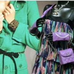 时尚搭配 香芋紫色香奈儿迷你盒子包