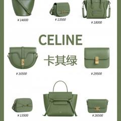 2020神仙色包包 卡其绿色赛琳包包