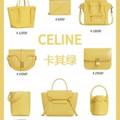 2020神仙色包包 黄色赛琳包包