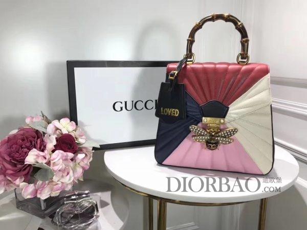 杨幂街拍 Gucci Queen Margaret 玛格丽特皇后系列双肩包