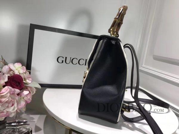 款式欣赏 黑白色 Gucci Queen Margaret 玛格丽特皇后系列双肩包