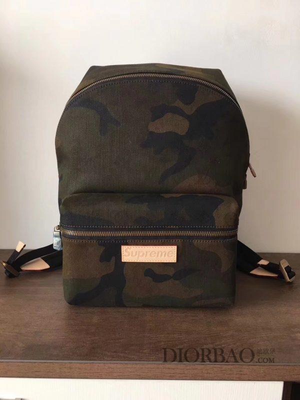 supreme lv联名系列迷彩背包 M44200 款式欣赏