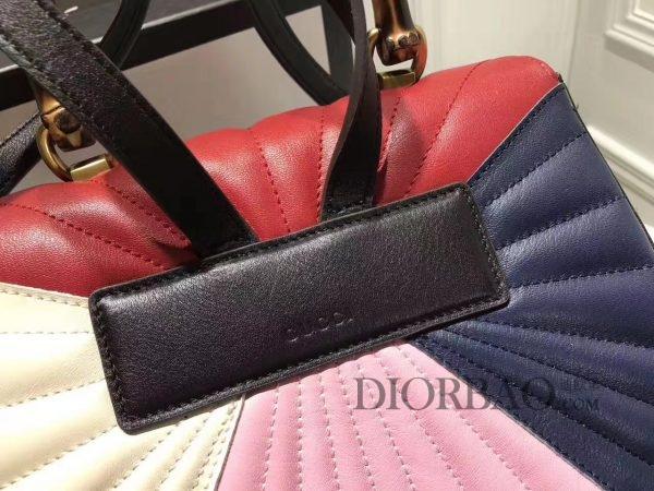 杨幂同款Gucci玛格丽特皇后系列双肩包,款式欣赏,皮革与缝线细节